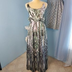 One World blouson sleeveless maxi dress C1